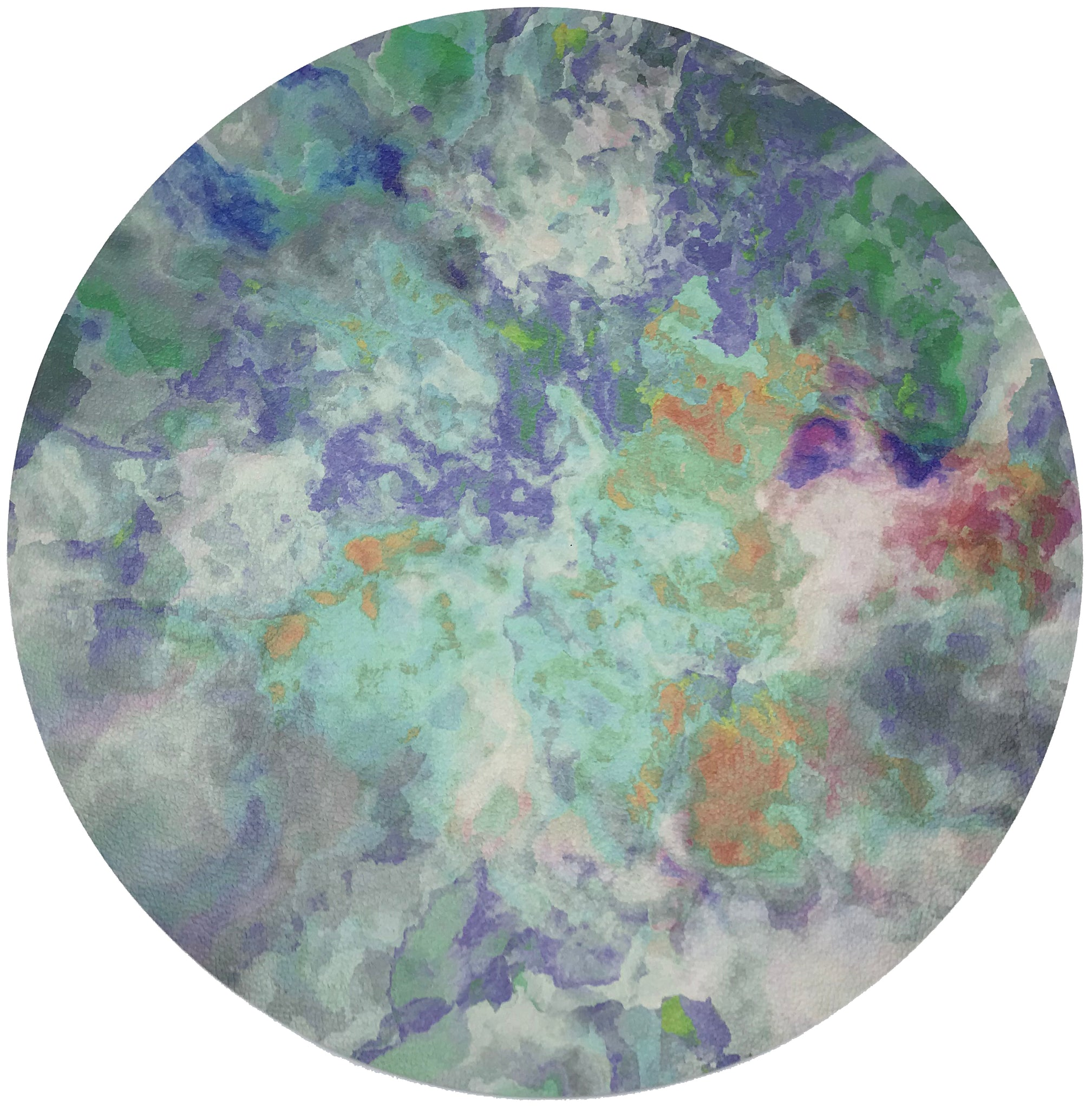 "IMPRESSIONISM SPRING 16"" ROUND PEBBLE PLACEMATS, SET OF 4 - nicolettemayer.shop"