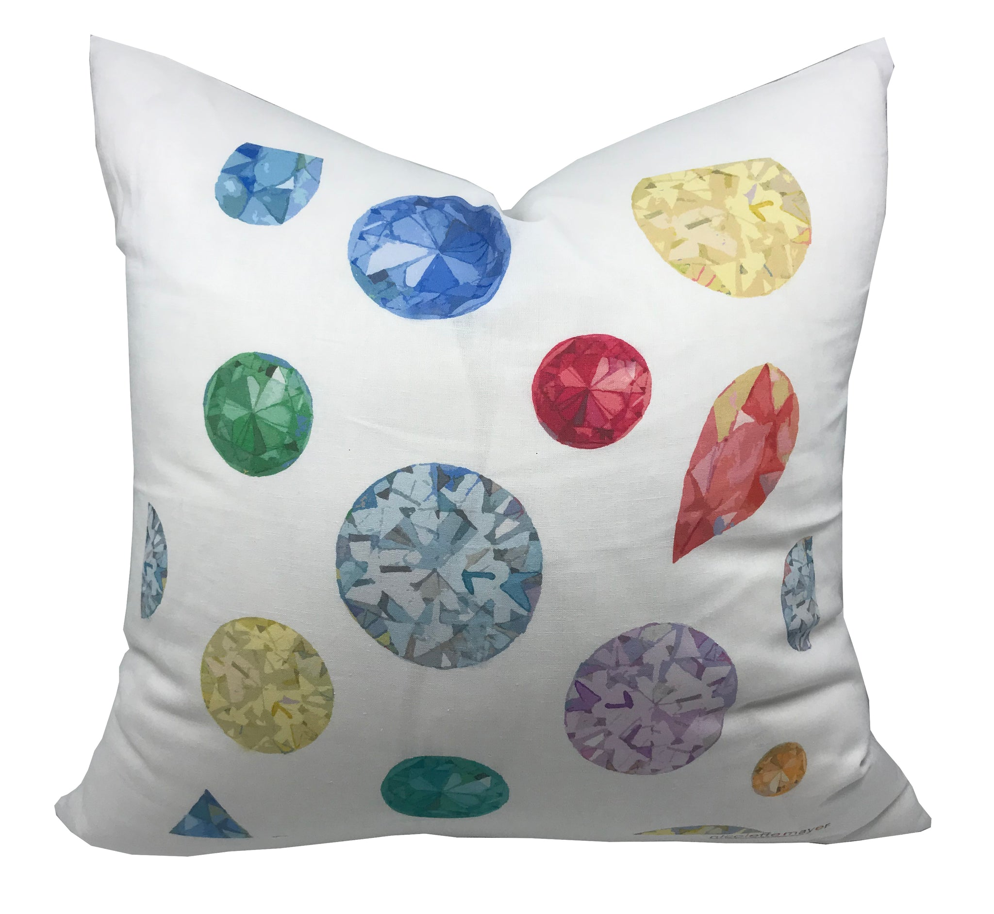 "JEWEL MODERN ACCENT THROW PILLOW 22""x22"" - nicolettemayer.shop"