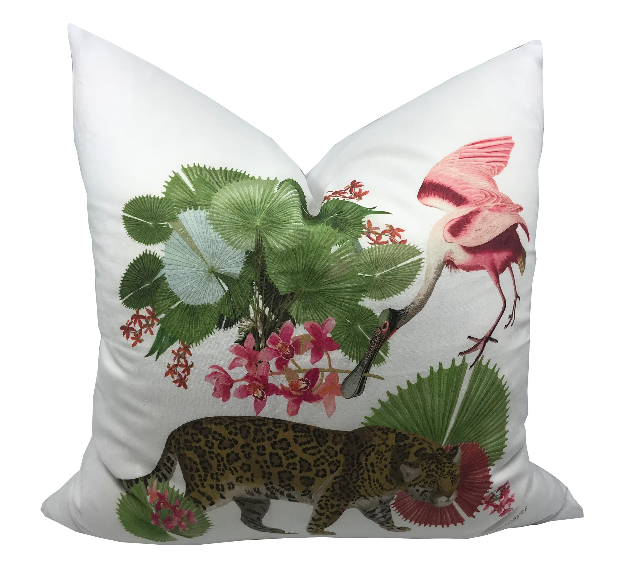 "LEOPARD WALK 22""x22"" DESIGNER PILLOW - nicolettemayer.shop"
