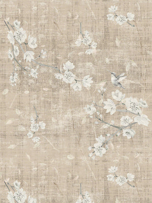 Blossom Fantasia French Gray Wallpaper - nicolettemayer.shop
