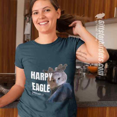 giftsforbirders.com  lovers gifts for hikers gifts for birders gifts for birdwatchers Cushion for Bird lovers Chushions for Hikers Cushion for Birders Harpy Eagle tee shirt