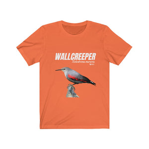 Uk and Europe Birding T-Shirt Unisex - Wallcreeper Short Sleeve Tee shirt