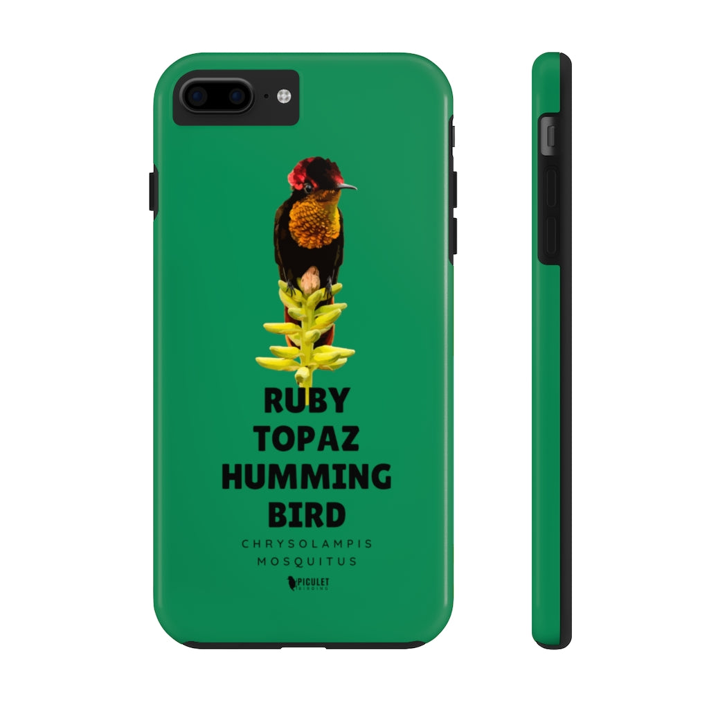 iPhone (7, 7plus,8,8plus) Case for Birdwatchers - Ruby Topaz iphone case