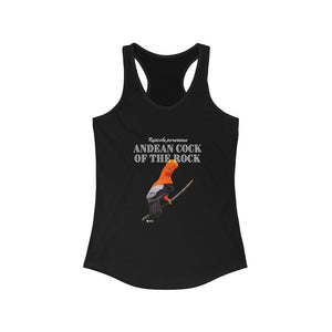 Birdwatchers Women's Racerback Tank- Andean Cock of The Rock Racerback Tank