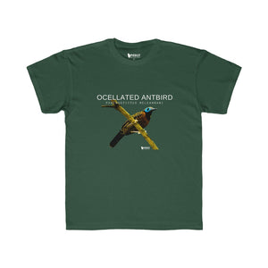 T-shirt for younger Birders - Ocellated Antbird Kids Regular Fit Tee