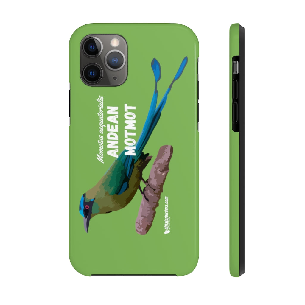 IPhone ( 11, 11 pro,11 pro max) tough Case for Birdwatchers - Andean Motmot