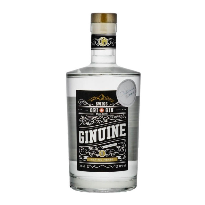 GINUINE NO.1 ALPINE HERBS SWISS GIN 70CL