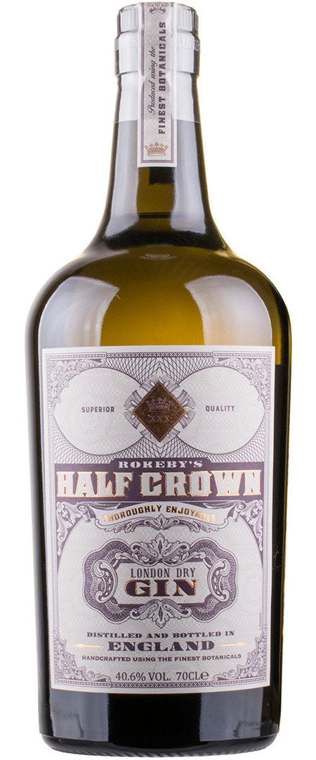 ROKEBY'S HALF CROWN LONDON DRY GIN