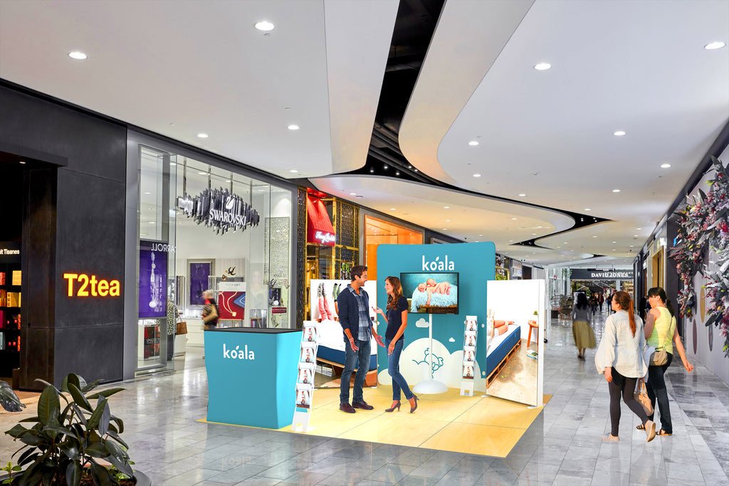 Portable Display Signage shopping centre activation