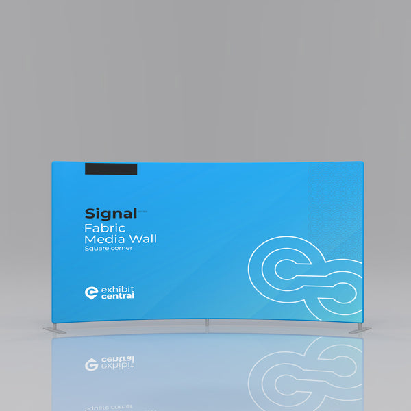 Signal Curved Fabric Media Wall - 3 x 1.5m