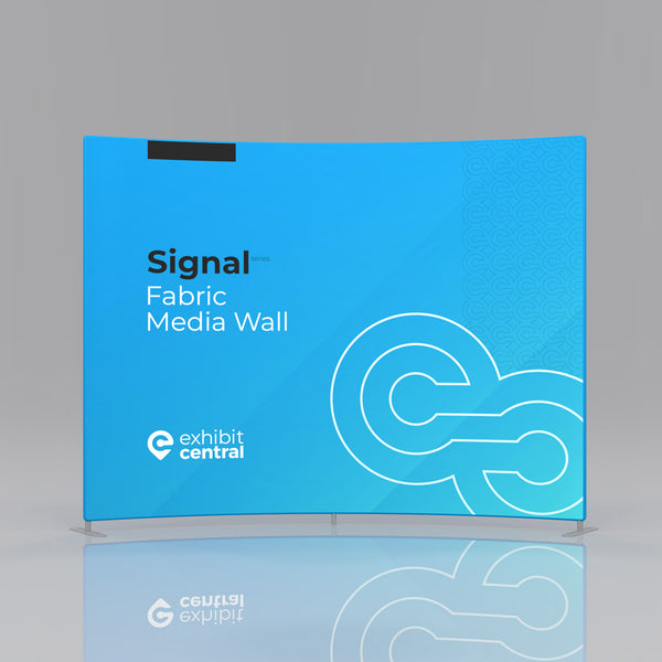 Signal Curved Fabric Media Wall - 3 x 2.3m