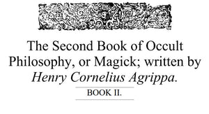 Henry Cornelius Agrippa - The 2nd Book of Occult Philosophy