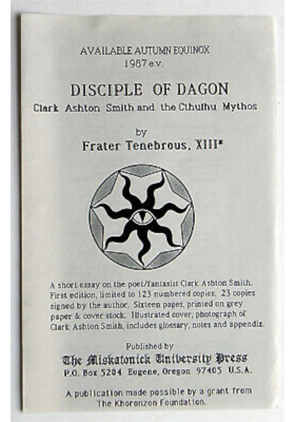 Clark Ashton Smith and the Cthulhu Mythos - Disciple of Dagon