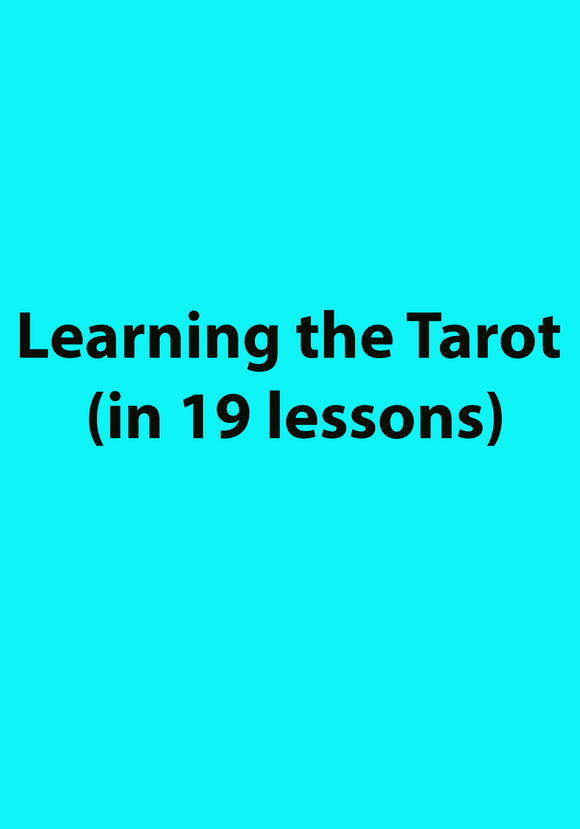 Learning the Tarot (in 19 lessons)