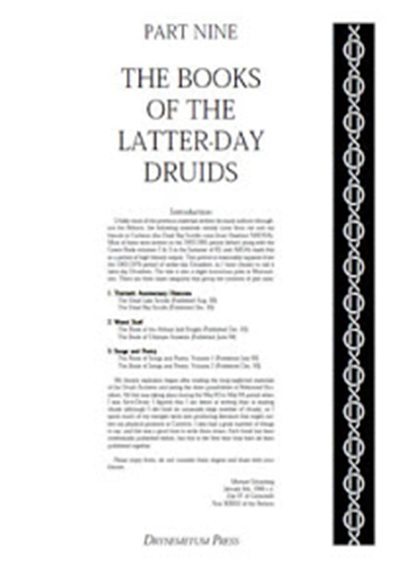 Reformed Druids - Anthology 09 The Books of the Latter Day Druids