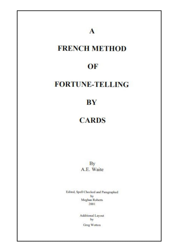 Playing Cards - A French Method of Fortune Telling