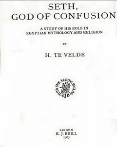H. Te Velde - Seth, God Of Confusion