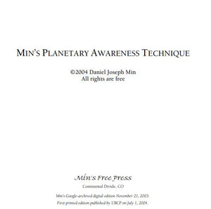 Daniel Joseph Min - Min's Planetary Awareness Technique