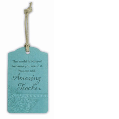 Amazing Teacher Wood Gift Tag 2.25x3.75in