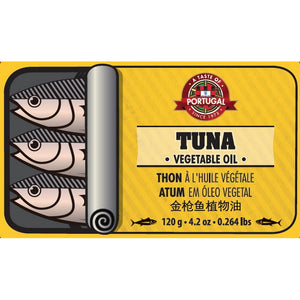 Taste of Portugal - Tuna in Vegetable Oil 120gr Can