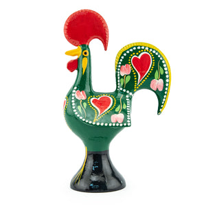 Barcelos Rooster - Metal - Green