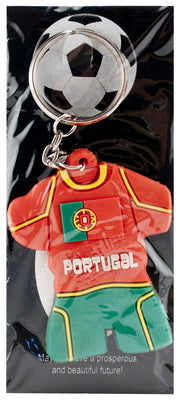Portugal - Soccer Jersey Rubber Keychain