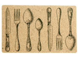 Cork Placemat 17.35x11.25in - Utensils