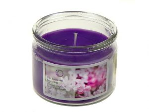 Scented Candle in Glass Jar 3oz. - Lilac Blossoms