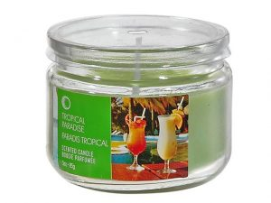 Scented Candle in Glass Jar 3oz. - Tropical Paradise