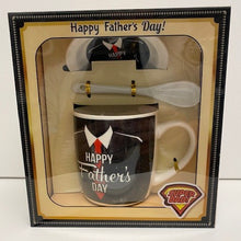 Load image into Gallery viewer, Ceramic Dad Mug with Lid and Spoon (Assorted Designs)