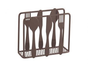 Cuisine Metal Standing Napkin Holder 4.5x1.6x4in