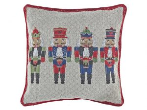 Tapestry Cushion 18x18in - Nutcrackers