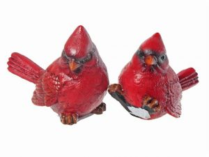 Cardinal Figurines Set of 2 (Polyresin) 4x2.5x3.85in
