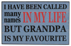 Wood Wall Plaque - Called Many Names (Grandpa) 9.8x0.7x6.3in