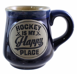 Stoneware Mug 18oz. - Hockey is My Happy Place