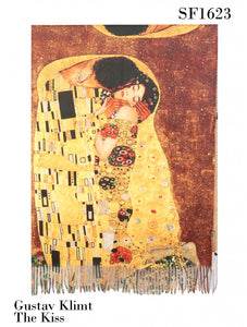 Scarf - Oil Painting Design - The Kiss (Klimt)