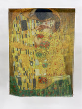 Load image into Gallery viewer, Scarf - Lightweight Oil Painting - The Kiss (Klimt)
