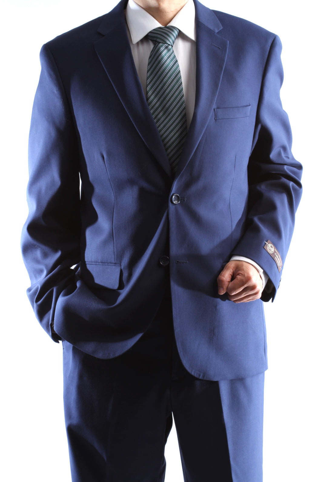 Bolzano Men's 2 Button Notch Lapel 2pc Suit Regular fit style S600212N in Midnight Blue Color (free shipping)