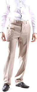 Creativo Men's Single Breasted 2 Button 3pc Vested Suit Slim Fit in Beige, Style  CT601