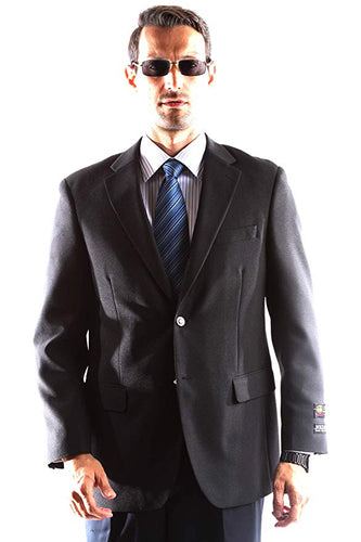 Bolzano Men's Single Breasted Two Button Blazer in BLACK 301, Style J600312C
