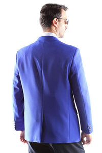Bolzano Men's Single Breasted Two Button Blazer in BLUE 351, Style J600312C