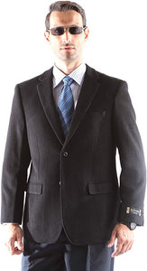 Prontomada Men's 2 Button Luxury Wool Cashmere Winter Sportcoat Style J400912S in Black 931