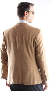 Prontomada Men's 2 Button Luxury Wool Cashmere Winter Sportcoat Style J400912S in Camel 934