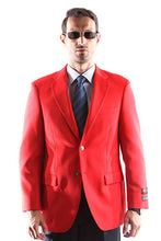 Load image into Gallery viewer, Bolzano Men's Single Breasted Two Button Blazer in RED 350, Style J600312C