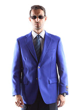 Load image into Gallery viewer, Bolzano Men's Single Breasted Two Button Blazer in BLUE 351, Style J600312C