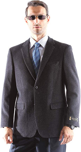 Prontomoda Men's 2 Button Luxury Wool Cashmere Winter Sportcoat Style J400912S in charcoal 932 (free shipping)