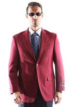 Load image into Gallery viewer, Bolzano Men's Single Breasted Two Button Blazer in Burgundy 309, Style J600312C