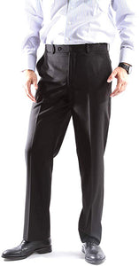 Caravelli Men's Super 150's Poly/Viscose Wool Feel Single Breasted 2 Button Slim Fit 2pc Suit Style S600512H in Black 501