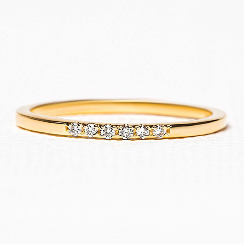 Bague Nisha en or vermeil et diamants blancs