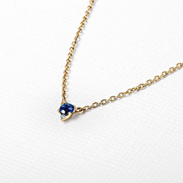 Collier saphir diamant en or vermeil